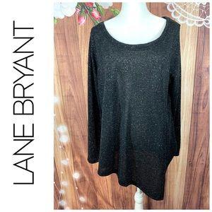 Lane Bryant- Black Silver Sparkle A Symmetric- 18
